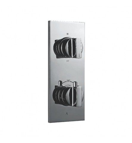 Thermostatic shower valve with 3-way divertor